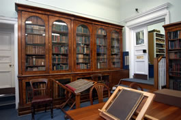 original bookcases owned by George Stacey Gibson